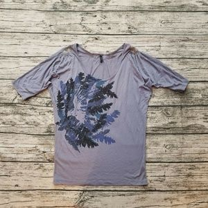 Free People Bird Graphic Batwing Dolman Top